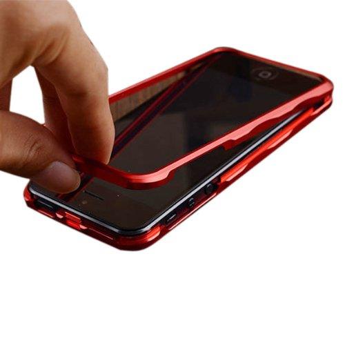 MŽtal Cadre Bumper Shell Housse de protection rigide pour iPhone 5 5S rouge