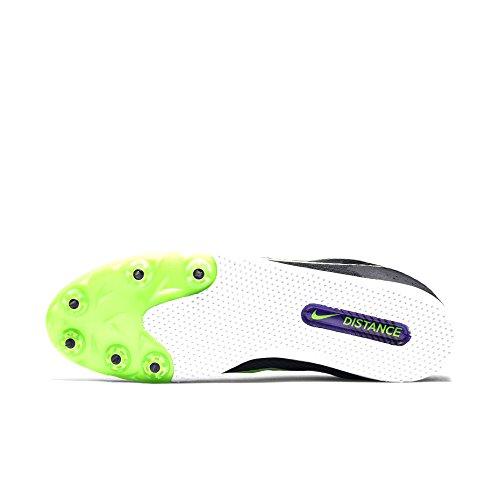 Nike Zoom Rival D 9, Scarpe da Corsa Uomo Nero (Black (nero / verde feroce strike-viola))