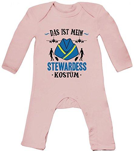 abybody   Verkleidung   Karneval   Fasching   Langarm   Langärmliger Strampler, Farbe:Babyrosa (Powder Pink BZ13);Größe:3-6 Monate (Billig Narr Kostüme)