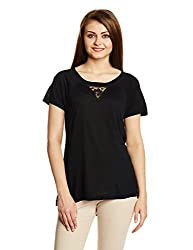 French connection Womens Body Blouse Top (76DGN_Black_10)