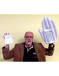 Hand, aufblasbar, rot oder weiß