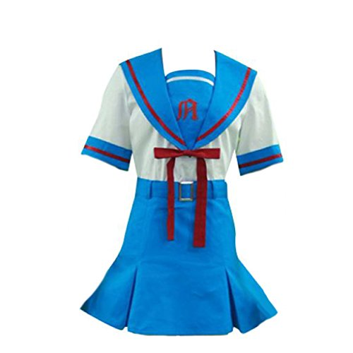 Dream2Reality japanische Anime The Melancholy of Haruhi Suzumiya Cosplay Kostuem - Senior High School Maedchen Summer Uniform X-Small