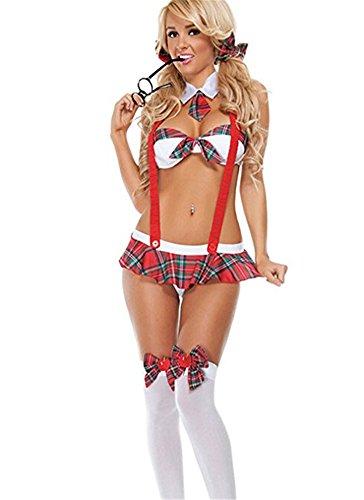 YeeHoo scuola bikini da ragazza vestito sexy lingerie Cosplay Student uniforme costumi Tentazione