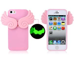 Allcase® Ailes Housse de protection de Glow-in-the-Dark Angel Coque pour iPhone 5 / iphone 5G / iphone 5S (rose / pink)