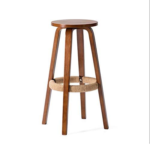 Klappstufen Massivholz-Hochhocker Home Round Coffee Handy-Shop Barstuhl (Sitzhöhe 68,5 cm) Stehleitern (Color : B) -