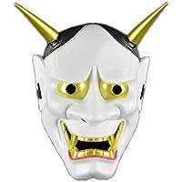 Máscara Facial Japonesa de la máscara Blanca de la Novedad del Partido de Halloween Máscara Negra