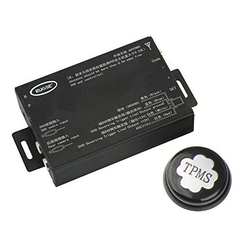 Preisvergleich Produktbild Rupse Reifendruckmesser Reifendruckprüfer Überwachungssystem mit 4 Sensoren TPMS Tire Pressure Monitor System Automatischer Alarm