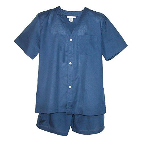 Geoffrey Beene Men's Short Sleeve Short Pant Leg Pyjama Set