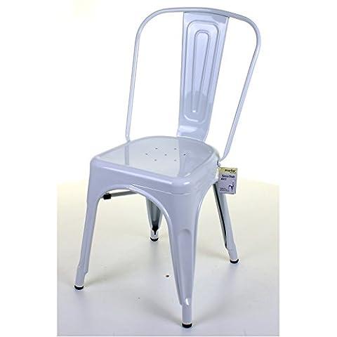 Marko Furniture Siena Metal Dining Chair Stackable Industrial Vintage Style