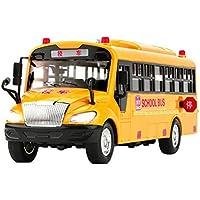 TOPVORK 4 Estilos Inercial de Autobús Escuela Modelo Juguetes Acousto Óptico Vehículo Iluminación de Música Coches Juguetes para Niños Niño Cumpleaños Regalo de Navidad