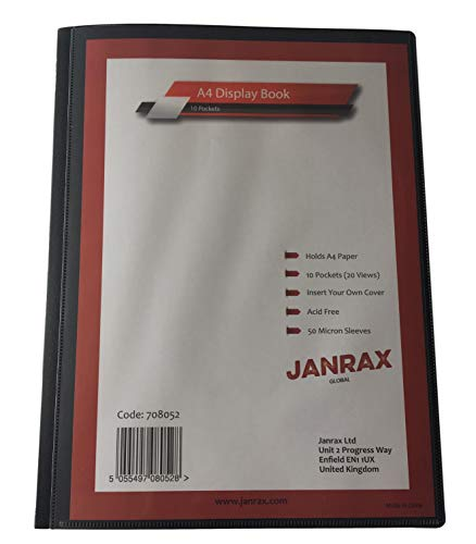 Janrax Präsentationsmappe, A4, 10 Hüllen, 20 Seiten