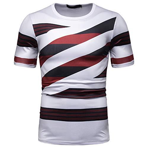 Hombre Camiseta De Manga Corta Escote Redondo Estampado Slim...