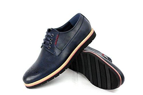 Hommes Brogue À Lacets Chaussures Élégantes Bureau Habillé Travail Décontracté Robe Mariage UK taille Bleu Marine