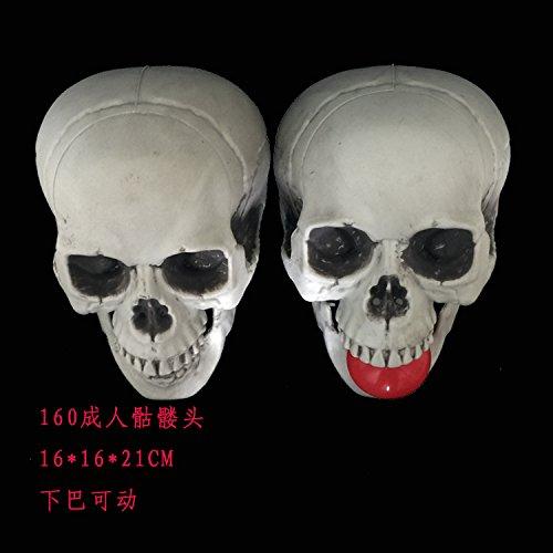 SunBai Halloween decoratingKULOU ghost Häuser, COS-Emulation der Totenkopf Requisiten Lassen Skelett Modell Ornamente, Leben - Größe der 160 Busse können manuell. (Leben Skelett Größe Halloween)