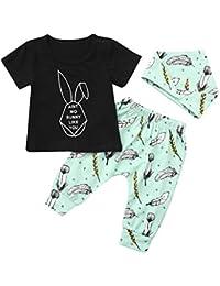 7b71674d48 Pagliaccetto Neonata BANAA Bambino Carino Tutine Body Bambino Coniglietti  Happy Easter Gift Bowknot Colored Eggs Bunny