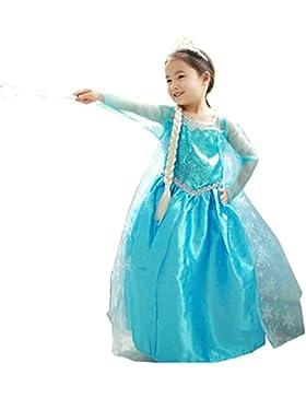 Traje de Carnaval vestido congelado vestido de niña Bimba childen Azul 808