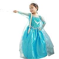 ISPIRATO A FROZEN: Elsa e Anna è ottimo per feste, feste di compleanno a tema, per giocare o per quando la tua piccola principessa vuole gustarsi il mondo come fanno la divertenti e vivaci principesse Elsa e Anna Costume perfetto per il car...