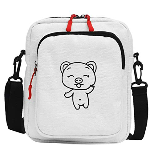 Damen Shopper Handtasche Crossbody Tasche Shell Schulter Umhängetaschen Messenger Bag,Weiblicher Beutel-Karikatur-Schwein-Segeltuch-Beutel-Pers5onlichkeits-Diagonal-Beutel-kleine Schulter-Tasche -