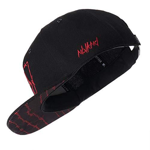 Nebelkind Unisex Snapback Cap Barbed Wire Stacheldraht Kappe Schwarz One Size