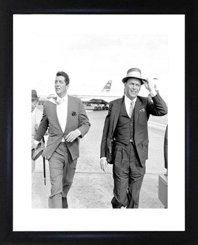 Frank Sinatra und Dean Martin gerahmtes Foto -