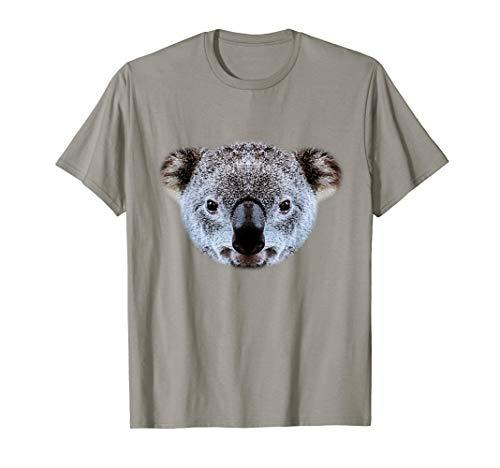 Real Koala Kopf Kostüm Lustiges Tier Halloween Geschenk T-Shirt (Koala Kinder Kürbis Kostüm)
