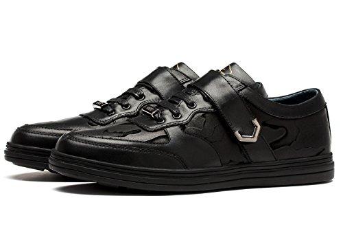 OPP Sneaker en Cuir Chaussures de Loisir A Lacets Pour Hommes Noir