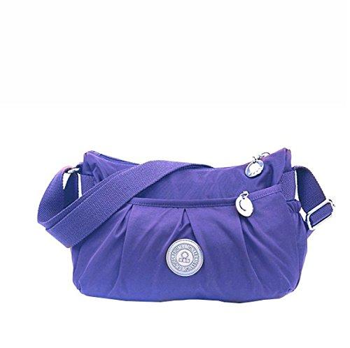 Frau MeiZiWangMeiZiWang Leinwand Schulter Umhängetasche Purple