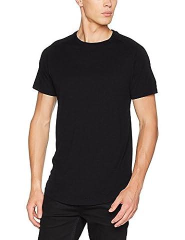 JACK & JONES Herren T-Shirt Jcorafe Tee SS Crew Neck Noos Schwarz (Black Fit:Reg), X-Large
