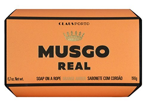 Claus Porto Musgo Real Men's Body Soap on a Rope - Orange Amber (190 g)