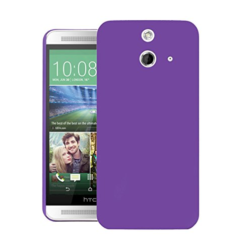 ZOUK Thin Fit Case for HTC One E8 Dual Sim Back Cover Sleek Rubberised Matte Hard Case Back Cover For HTC One E8 Dual Sim (Purple)  available at amazon for Rs.250