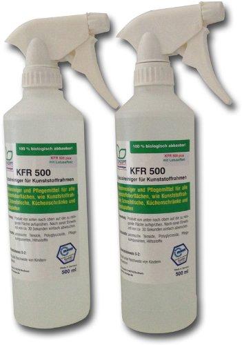 KFR 500 plus - Spezialreiniger für Kunststoffrahmen mit Lotos-Abperleffekt(2x 500ml Sprühflaschen)