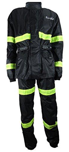 Bangla Regenkombi 2tlg Jacke und Hose Motorradbekleidung schwarz 3XL