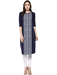Colors Couture Round Neck Short Sleeves Kurta For Women