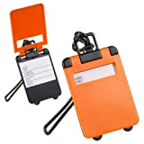 Generic IDAY equipaje LA UITCASE - 3X nombre percoladora HOLIDAY equipaje etiqueta naranja moldearon como maletas IDAY equipaje LA - 3X nombre ADDRE<1&1067*1>