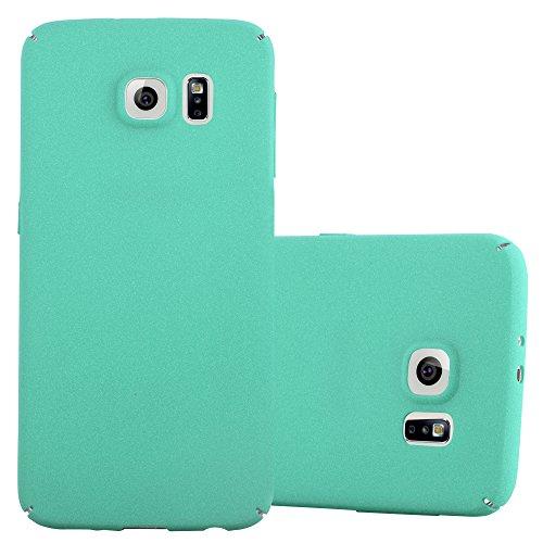 Preisvergleich Produktbild Cadorabo Hülle für Samsung Galaxy S6 - Hülle in Frosty GRÜN - Hardcase Handyhülle im matten Frosty Design - Schutzhülle Bumper Back Case Cover