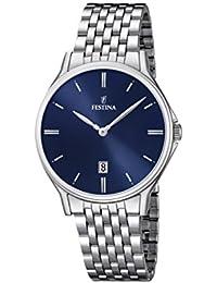 University Sports Press  F16744/3 - Reloj de cuarzo para hombre, con correa de acero inoxidable, color plateado