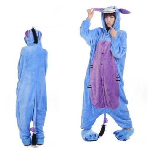 sex Kigurumi Einteiler Tier Pyjama Cosplay Kostüm Schlafanzüge (XL (180-190cm)) (Eeyore Erwachsenen Kostüme)