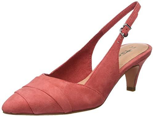 Tamaris Damen 1-1-29616-32 607 Slingback Ballerinas, Rot (Raspberry 607), 40 EU Pink Sling