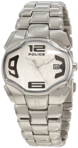 Police Mujer PL-12896BS/04M Angel Silver Dial Stainless Steel Date Reloj