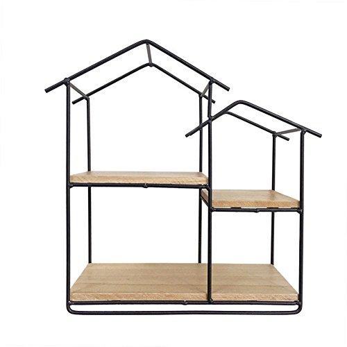 Starter-regal (starter Kreatives Eisen-kleines Haus-geformtes Gestell-Hexagon-Regal für Wohnzimmer-Café-Wand-Dekoration R)
