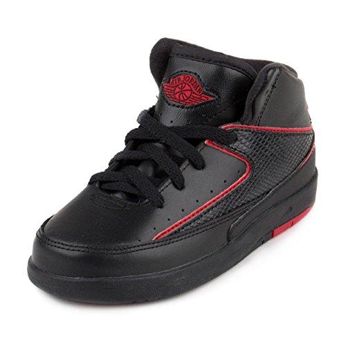 Größe Basketball-schuhe Nike Jungen 2 (Jordan Nike Kleinkind 2Retro BT Basketball Schuh, Schwarz - Black/Varsity Red - Größe: 25,5 EU Kinder)