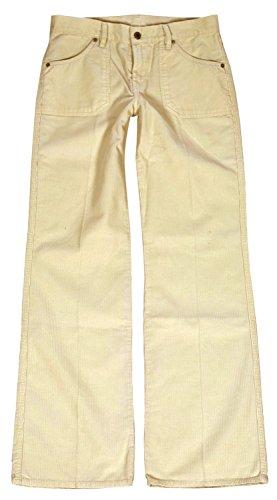 Diesel Damen Jeans, Hüftjeans, Cord Hose, Low Waist, Bootcut, Hose Blame 00105J, Größe:W27;Farbe:Beige