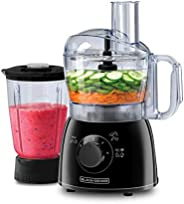 Black+Decker 400W Food Processor with Blender Jar, FX400B-B5, Black, 2 Year Brand Warranty