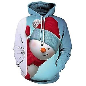 Christmas Pullover,Eleboss Weihnachten Kapuzenshirt Sportshirt Hoodie Sweathoodie Weihnachtspullover Sportswear Kapuzensweatshirt Casual Oberteil