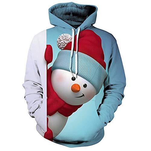 MIRRAY Herren Pullover Weihnachten Hoodie Weihnachten Känguru Pocket -