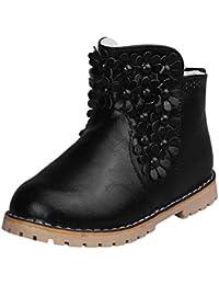 Botas Niña Invierno Zapatos de Cremallera Floral de Vestir