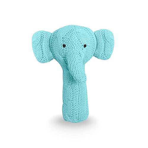 Jollein 039-001-65011 Strick Greifling Stabrassel Elefant mint