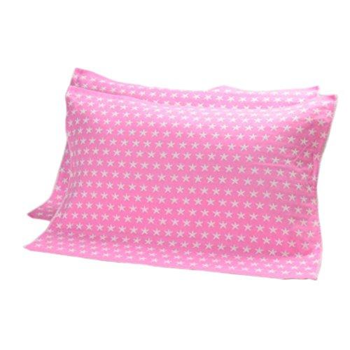 Rosa Souffle (Black Temptation 2 PCS Baumwolle DREI Schichten verdicken Kissen Handtuch Weichen Kissen Decke Beschützer Hautpflege, rosa Stern)