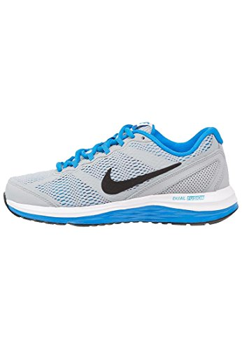 Nike Dual Fusion Run 3 (GS) Laufschuhe wolf grey-black-white-photo blue Gris