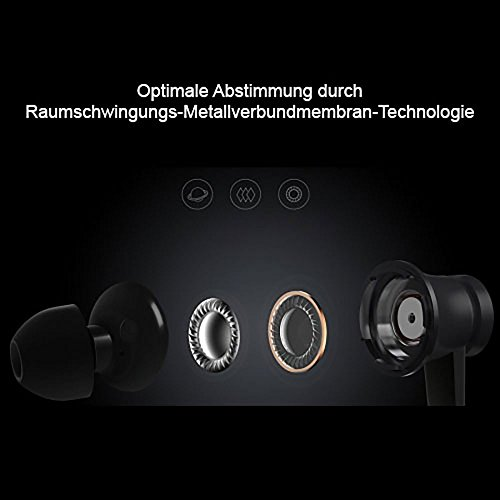 Original Xiaomi Piston Cuffie Basic Edition 3.5mm auricolari cuffie con microfono e telecomando (nero)